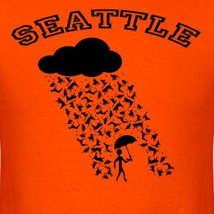 SEATTLE: It's always raining cats and dogs! T-Shirts - Men's T-Shirt