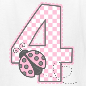 Pink Ladybug 4th Birthday Kids' Shirts - Kids' T-Shirt
