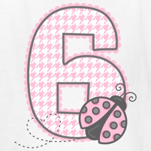 PInk Ladybug 6th Birthday Kids' Shirts - Kids' T-Shirt
