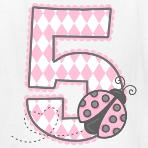 Pink Ladybug 5th Birthday Kids' Shirts - Kids' T-Shirt