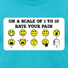 Rate Your Pain - Men's T-Shirt by American Apparel