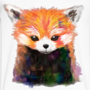 Red Panda Painting Tee - Men's V-Neck T-Shirt by Canvas