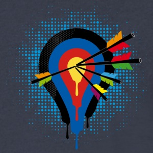 Target and 5 arrows T-Shirts - Men's V-Neck T-Shirt by Canvas
