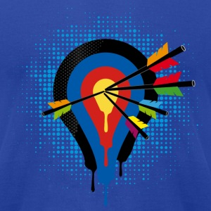 Target and 5 arrows T-Shirts - Men's T-Shirt by American Apparel