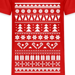 Christmas sweater pattern Kids' Shirts - Kids' Premium T-Shirt