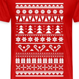Christmas sweater pattern T-Shirts - Men's Premium T-Shirt