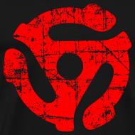 Design ~ 45 R.P.M. Record Adaptor T-Shirt (Men Black/Red)