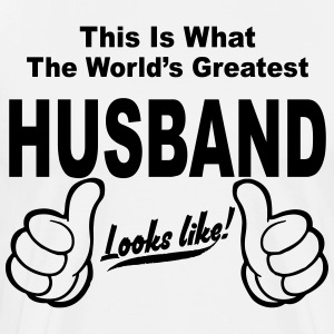 Worlds Greatest Husband Looks Like  T-Shirts - Men's Premium T-Shirt