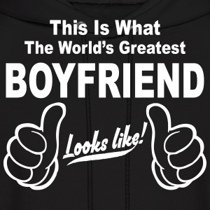 Worlds Greatest Boyfriend Looks Like  Hoodies - Men's Hoodie