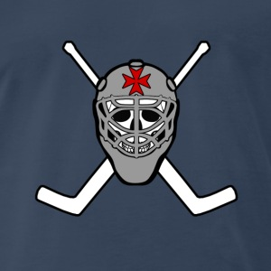 Goalie Crossed Sticks - Men's Premium T-Shirt