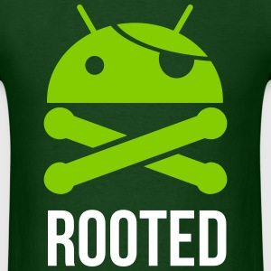 ANDROID ROOTED MEN GILDAN T SHIRT - Men's T-Shirt