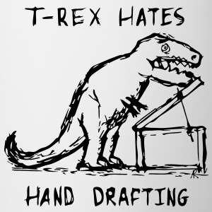 Architecture T-Rex Hates Drafting Coffee Mug (Cont - Contrast Coffee Mug