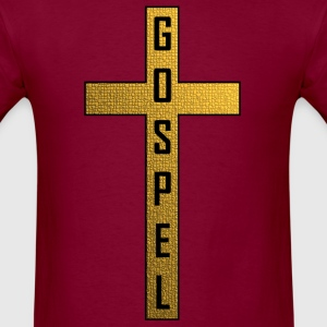 Gold Stone Gospel Cross - Men's T-Shirt