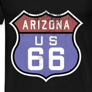 Route 66 Sign - Vintage / Retro style - Men's Premium T-Shirt