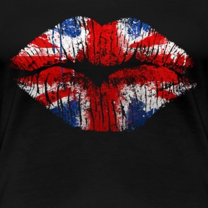 british lips - Women's Premium T-Shirt