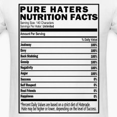 Haters Nutrition Facts T-Shirt & Apparel T-Shirts