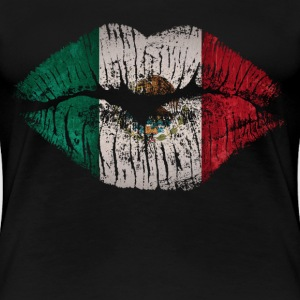 mexico lips - Women's Premium T-Shirt