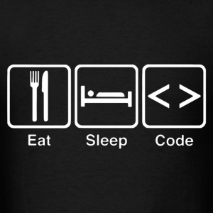 eat sleep code - Men's T-Shirt