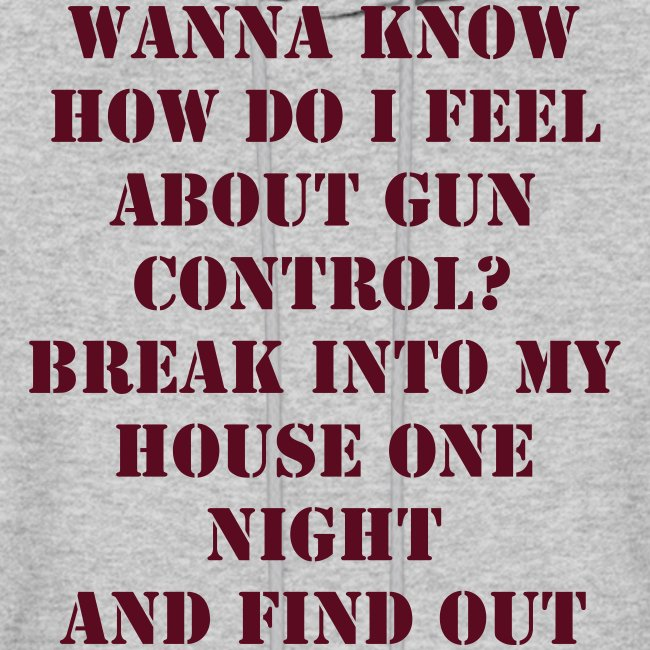 How I Feel About Gun Control?