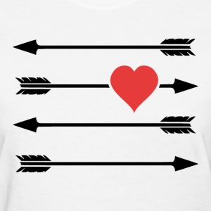 Cupid's Arrow Valentine's Day Heart Women's T-Shirts - Women's T-Shirt