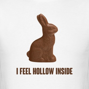 I Feel Hollow Inside Chocolate Easter Bunny T-Shirts - Men's T-Shirt