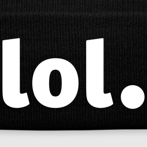 lol - Laughing out Loud Caps - Knit Cap with Cuff Print