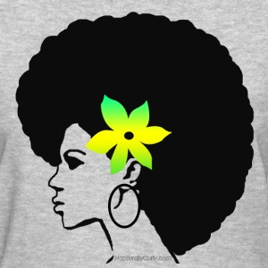 Big Afro (Green/Yellow Flower) - Women's T-Shirt