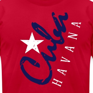 cuba havana_vec_3 us T-Shirts - Men's T-Shirt by American Apparel