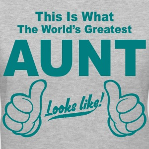 Worlds Greatest Aunt Looks Like  Women's T-Shirts - Women's V-Neck T-Shirt