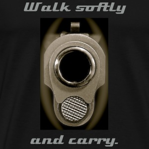 Walk Softly Tee Shirt. - Men's Premium T-Shirt