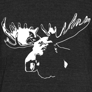 moose - elk - hunting - hunter T-Shirts - Unisex Tri-Blend T-Shirt by American Apparel
