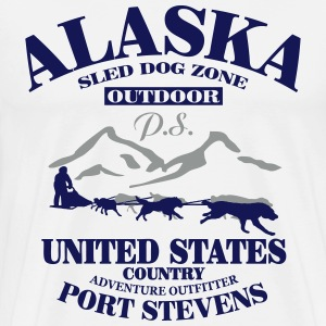 Husky - dog sled - Yukon Quest - Alaska  T-Shirts - Men's Premium T-Shirt