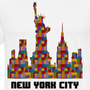 Statue of Liberty New York City Skyline Lego - Men's Premium T-Shirt