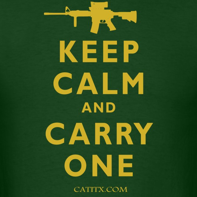 Keep Calm Carry One