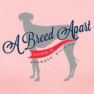 Design ~ A Breed Apart logo women's long sleeve T shirt; Azawakh Division