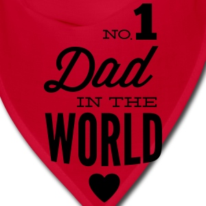 no1 dad of the world Caps - Bandana