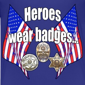 Heroes wear badges - Kids' Premium T-Shirt