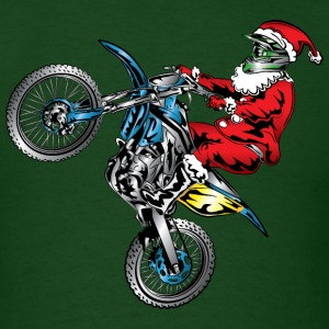 Motocross Santa Claus T-Shirts - Men's T-Shirt
