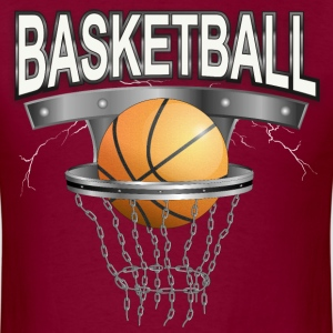 basketball with basket T-Shirts - Men's T-Shirt