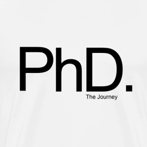 The PhD - The Journey - Mens (White) - Men's Premium T-Shirt