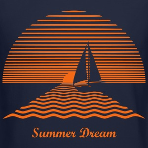 Sunset Sailboat Long Sleeve Shirts - Crewneck Sweatshirt