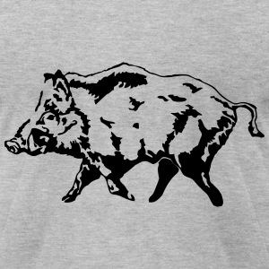 Boar - Hunting - Hunter T-Shirts - Men's T-Shirt by American Apparel