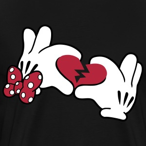 Mickey Broken Heart 2 T-Shirts - Men's Premium T-Shirt