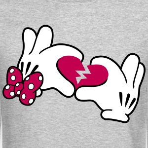 Mickey Broken Heart 2 Long Sleeve Shirts - Crewneck Sweatshirt