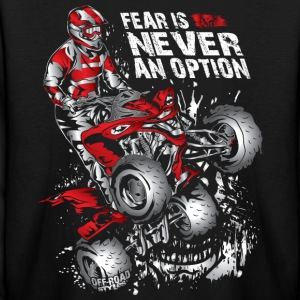 ATV Quad Never Fear Kids' Shirts - Kids' Long Sleeve T-Shirt