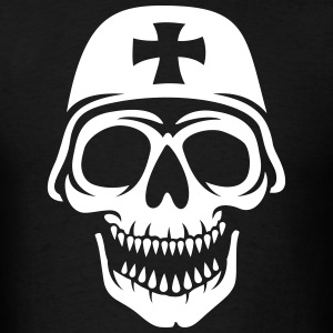 The skull in the helmet T-Shirts - Men's T-Shirt