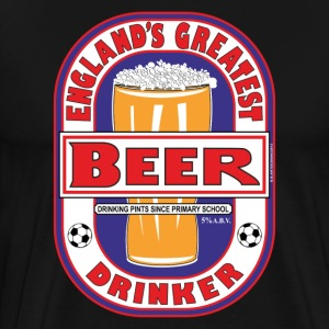 England's Greatest Beer Drinker. - Men's Premium T-Shirt