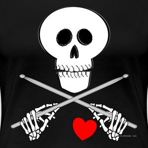 Heart Beating Skull - Womens T - Women's Premium T-Shirt