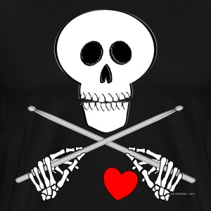 Heart Beating Skull - Mens T - Men's Premium T-Shirt