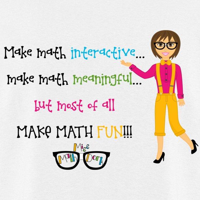 Make math... (for light shirts)